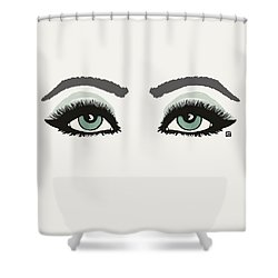 Shower Curtain featuring the painting Starry Eyed by Lisa Weedn
