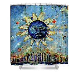 Starry Night 2017 Shower Curtain
