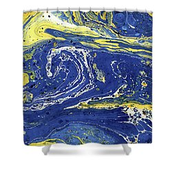 Starry Night Abstract Shower Curtain by Menega Sabidussi