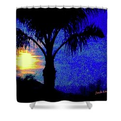 Starry Night At Casapaz Shower Curtain by Jack Eadon