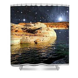 Starry Night Fantasy, Lake Powell, Arizona Shower Curtain