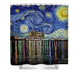 Starry Night In Destin Shower Curtain