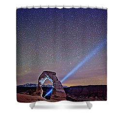 Starry Night Pointer Shower Curtain