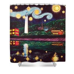 Starry Night With Little Joe Shower Curtain