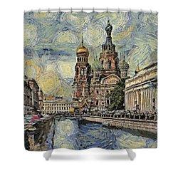 starry Saint Petersburg Shower Curtain
