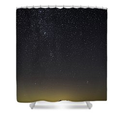 Starry Sky Over Virginia Farm Shower Curtain