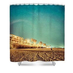 Shower Curtain featuring the photograph Starry Starry Pacific Beach by T Brian Jones
