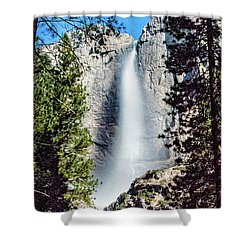 Starry Yosemite Falls Shower Curtain