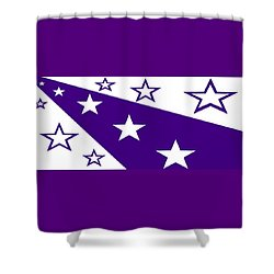 'stars 21' Or 'purple Stars' Shower Curtain