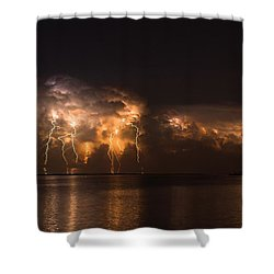 Stars And Bolts Shower Curtain