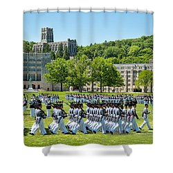 Shower Curtain featuring the photograph Stars And Stripes Forever by Dan McManus