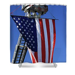 Stars And Stripes Shower Curtain by Karol Livote