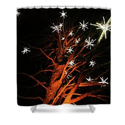Stars In The Tree Shower Curtain