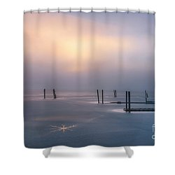 Stars On Ice Shower Curtain