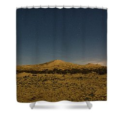 Stars Over Kelso Dunes Shower Curtain