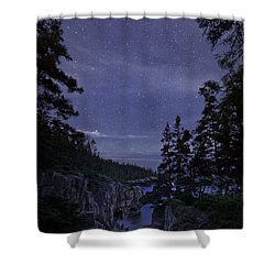 Stars Over Raven's Roost Shower Curtain