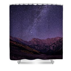Stars Over The Eagle's Nest Wilderness Shower Curtain by Aaron Spong