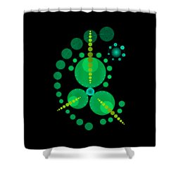 Starship Color Shower Curtain by DB Artist