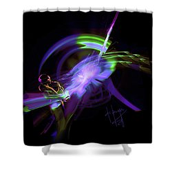 Starship Saxophone Shower Curtain