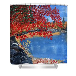 Start Of Fall Shower Curtain by Rod Jellison
