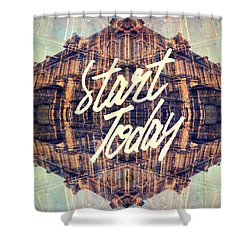 Start Today Classical French Architecture Paris France Shower Curtain