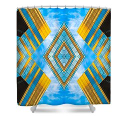 State And Grand Diamond N92 V3  Shower Curtain by Raymond Kunst