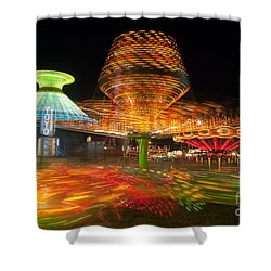 State Fair Rides At Night I Shower Curtain