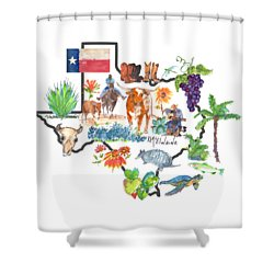 State Of Texas As I Know It Shower Curtain