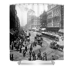 State Street - Chicago Illinois - C 1893 Shower Curtain by International  Images