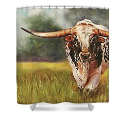 State Your Business Shower Curtain