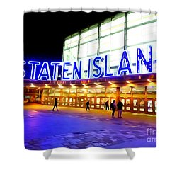 Staten Island Ferry Shower Curtain