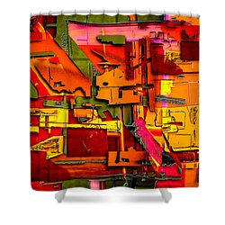 Industrial Autumn Shower Curtain