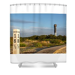 Station 18 1/2 On Sullivan's Island Shower Curtain