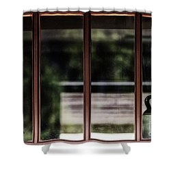 Shower Curtain featuring the photograph Station Window by Brad Allen Fine Art