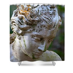 Statue At Magnolia Gardens Shower Curtain