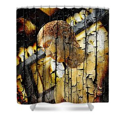 Statue Athlete Shower Curtain