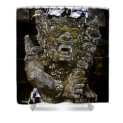 Shower Curtain featuring the photograph Statue Formalwear by T Brian Jones