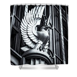 Statue In Monochrome Hdr Shower Curtain