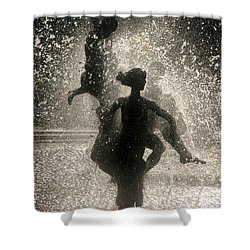 Shower Curtain featuring the photograph Statue In Rostock, Germany by Jeff Burgess