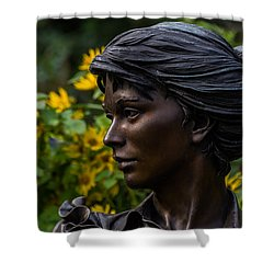 Shower Curtain featuring the photograph Statue by Jay Stockhaus