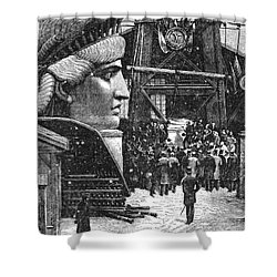 Statue Of Liberty, 1881 Shower Curtain by Granger