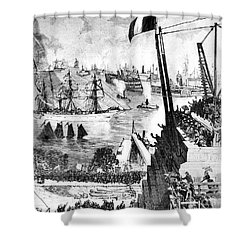 Statue Of Liberty, 1885 Shower Curtain by Granger