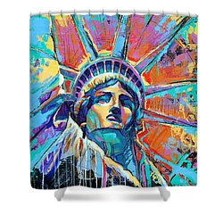 Statue Of Liberty New York Art Usa Shower Curtain
