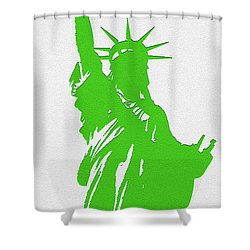 Statue Of Liberty No. 9-1 Shower Curtain