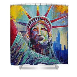 Statue Of Liberty Usa Wall Art New York City Lady Liberty Shower Curtain