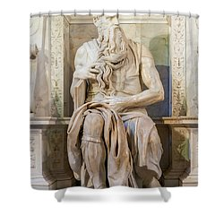 Statue Of Moses Shower Curtain