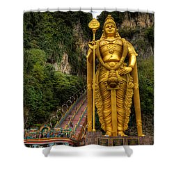Statue Of Murugan Shower Curtain by Adrian Evans