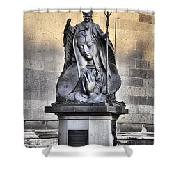 Statue Of Pope John Paul Shower Curtain by Jim Walls PhotoArtist