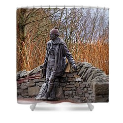 Statue Of Tom Weir Shower Curtain