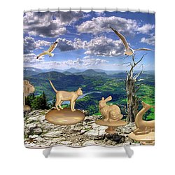 Statues Of The Rock Shower Curtain